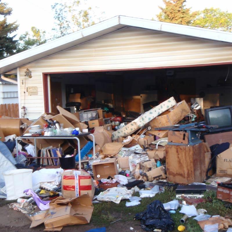 garage ante decluttering